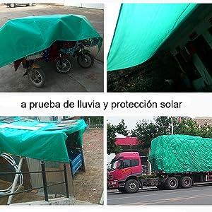 SOVIYAS Lona de alta resistencia Lona reforzada Ojales gruesos 10m x 12m 32ft x39ft (10 x 12 m,150g/m²) Lona de PE Lona verde impermeable Hoja de lona de calidad superior para acampar