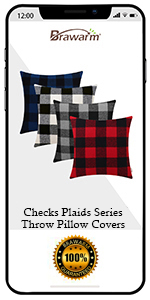 Classical Plaids Throw Pillow Covers