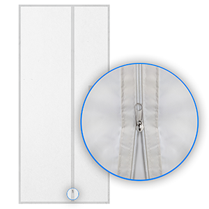 HOOMEE Cubierta Aislante De Tela de 90x210 CM para Puertas con Salida de Aire Acondicionado Portátil y Secadoras. Fácil de Instalar - Impide la Salida de Aire Fresco con Cremallera y Cinta