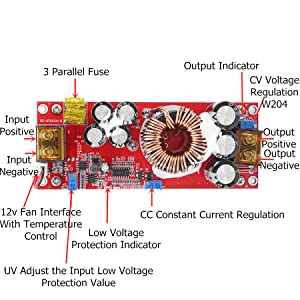 Voltage Step Up Converter Boost CC CV Power Supply Module