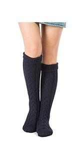 Women's Knit Socks Winter Warm Thick Knee Cotton Long Socks