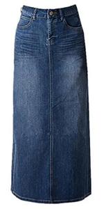 Women Long Denim Skirts