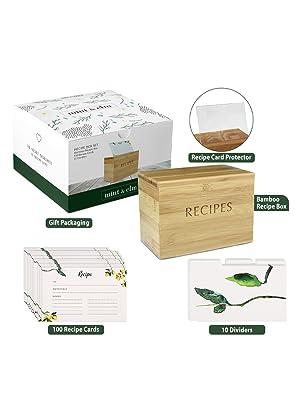 Recipe Organizer and Recipe Storage Box