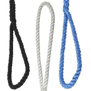 NovelBee 3/8 Inch x 20 Feet 3 Strand Twisted Nylon Dockline,Mooring Rope Dock Line with Spliced Eye