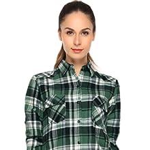 Match Camisas de Mujer Blusa de Franela a Cuadros de Manga Larga Blusas Informales Blusa de Botones #B003: Amazon.es: Ropa y accesorios