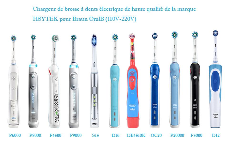 Aukru Chargeur pour Braun Oral B Brosse à Dents électrique