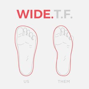 Wide Anatomic Toe Box