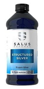 Salus Defense Presents Structured Silver Liquid Single Bottle