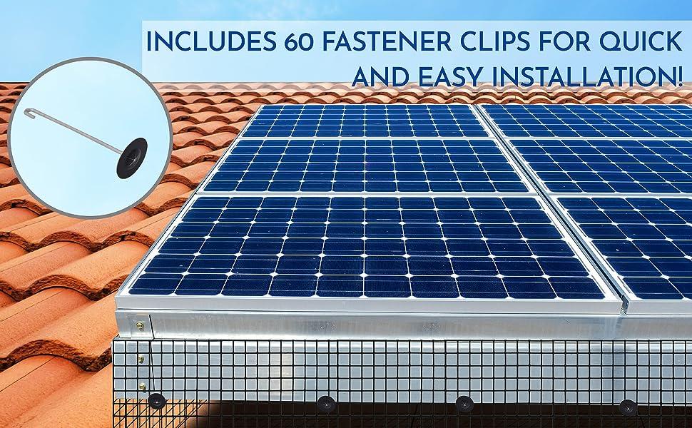 includes 60 fastener clips