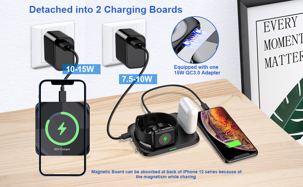detached into 2 charging boards