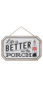 coca-cola porch wood sign