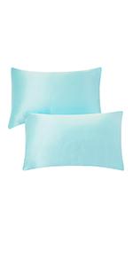 Turquoise Silk Pillowcases