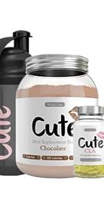 Cute Nutrition Batido de Reemplazo de Comidas de Chocolate ...