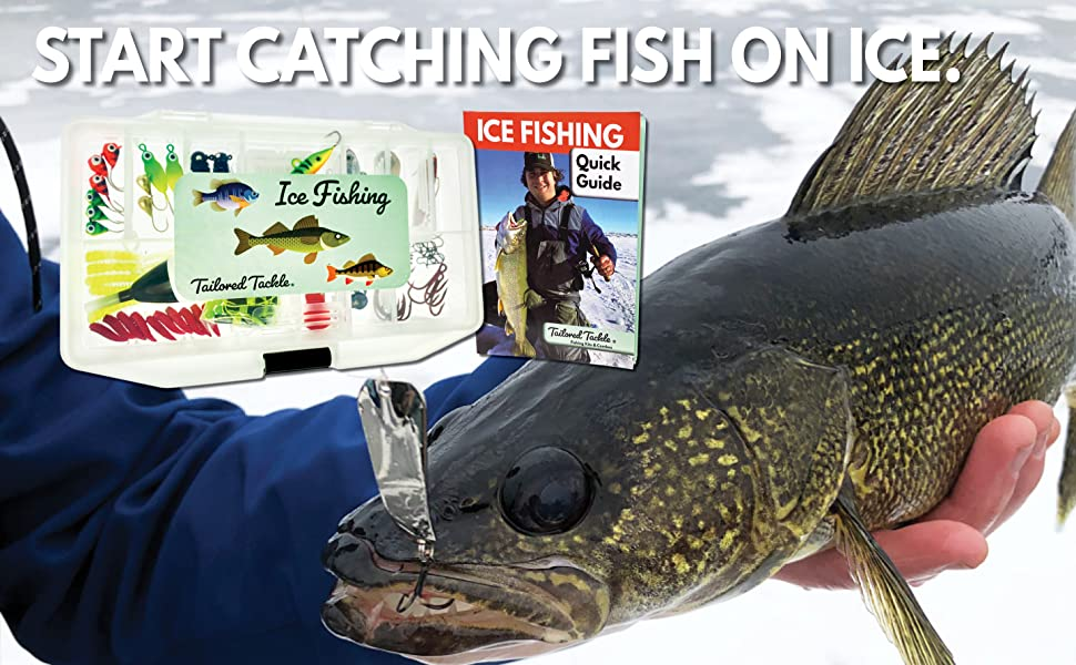 ice fishing kit lures jigs rigs bobber book gift set tailored tackle