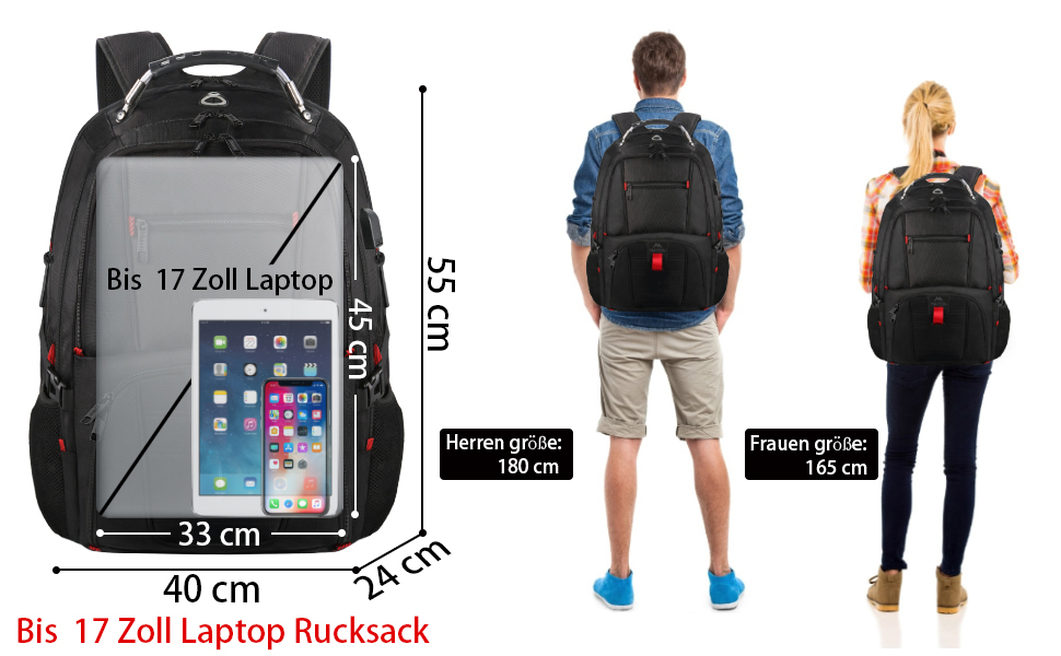 laptop rucksack comparation
