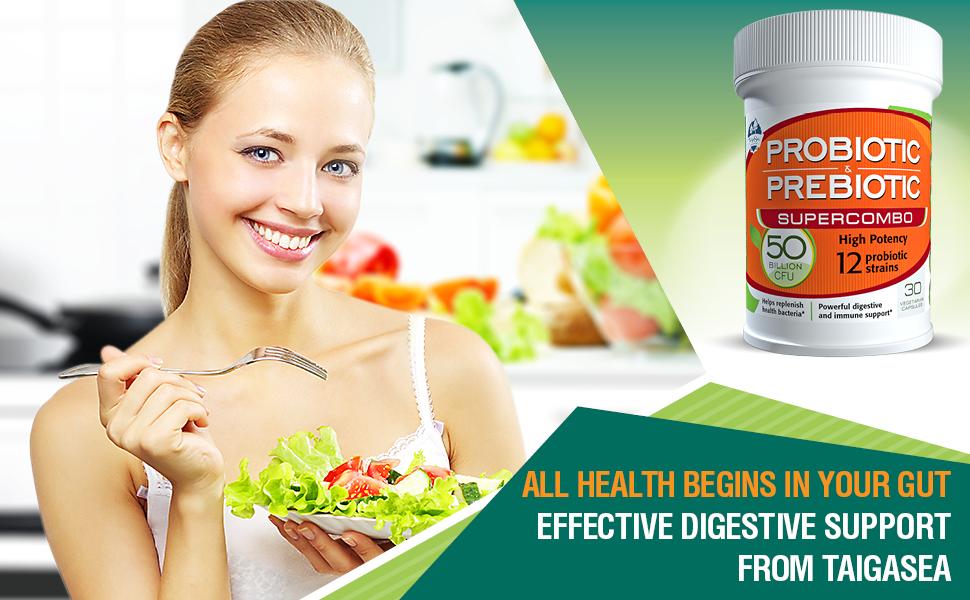 probiotics women leaky gut 50 strains prebiotics ibs bloating digestion