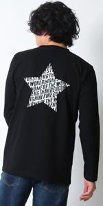 (リアルコンテンツ)REAL CONTENTS ロンt tシャツ メンズ 大きいサイズ ティシャツ 長袖Tシャツ ブランド ロゴ logo 星柄 バックプリント ロング tシャツ rclt1254