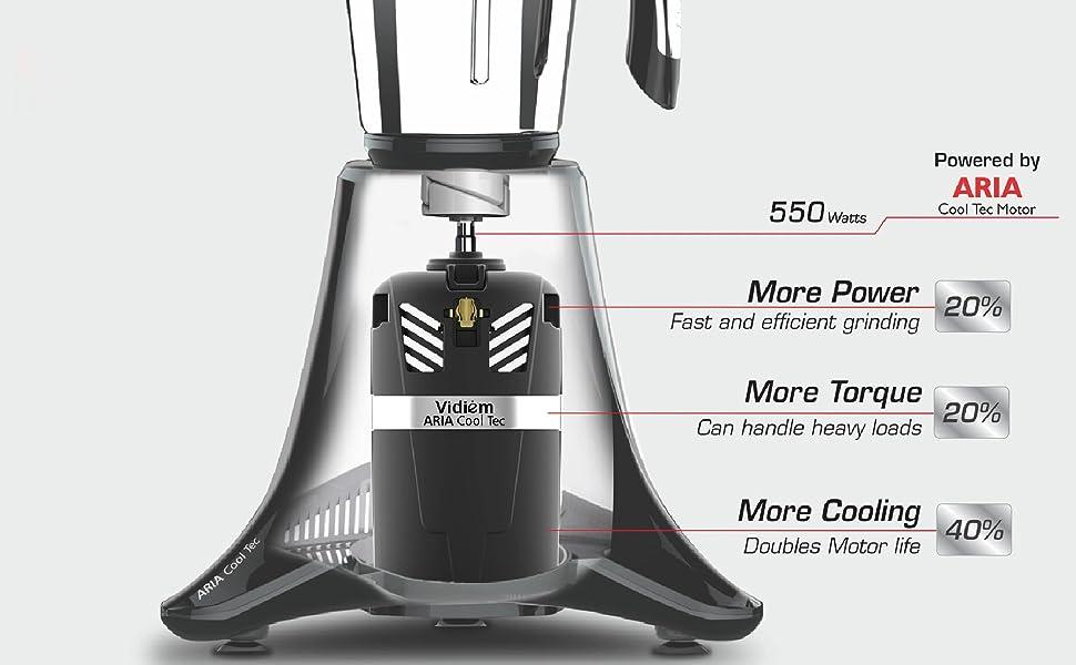 Vidiem Eva Nero Mixer Grinder 110V