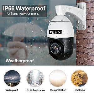 ip66 weatherproof waterproof outdoor security ptz camera