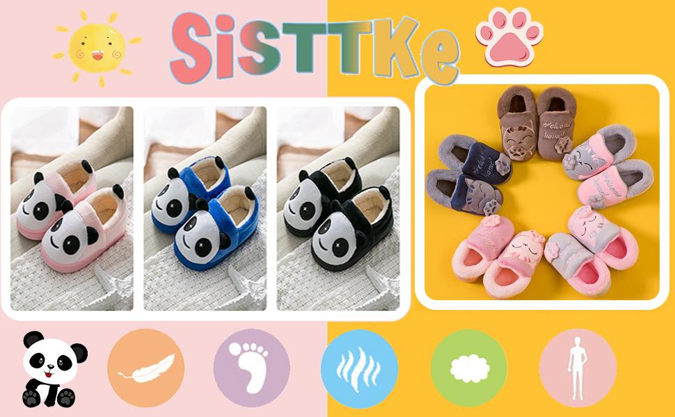 Pantofole Ragazze Inverno Ragazzi Warm Scarpe di Cotone Slipper Panda Antiscivolo
