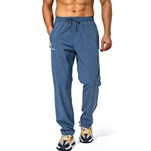 mens elastic waist pants