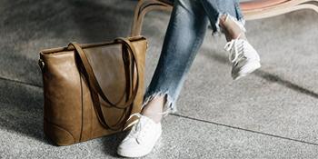 womens leather shoulder bag 15.6 inch computer tote purse ladies crossbody handbag school