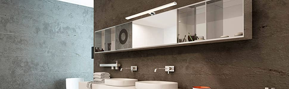 LED Lampe Miroir Salle de Bain IP44 80cm lumière de Surface / Serrage Blanc Neutre 4000K 15W 1100lm