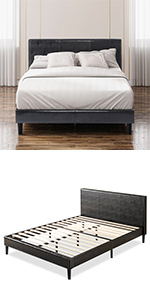 ZInus Jade Leather Bed Frame