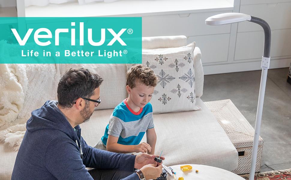 Verilux Original Smartlight Led Floor Lamp Full Spectrum Energy Efficient Natural Light For