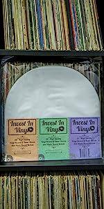"""Vinyl Record LP 12"""" Inner Sleeves Round Bottom Invest In Vinyl"""