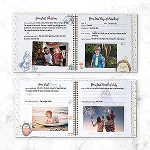 memory book journal gift gifts newborn parent parents mom dad keepsake diary photo books baby girl