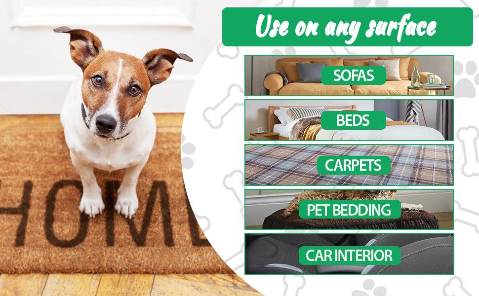 Pet Hair Remover Roller for sofa bed carpet pet bedding car interior
