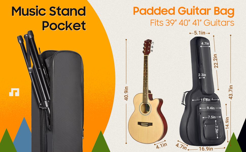 民謠吉他袋,加厚帶腰包,背包,吉他盒,演出包