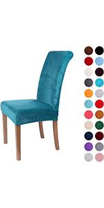 Teal Velvet Dining Chair cover