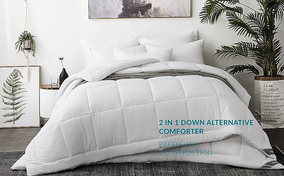 get cozy with the Bedsure Down Alternative Duvet Set Double