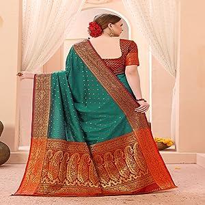 kanjivaram silk sarees for women kanchipuram saree Art Silk cotton banarasi sari under 1000