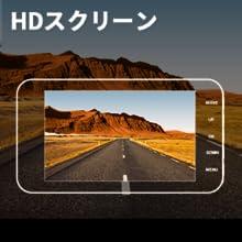 4.0インチHDスクリーン