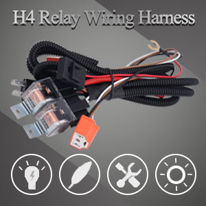 BLIAUTO H4 9003 Relay Harness kit Compatible with Toyota Pickup Tacoma 7x6 5x7 H6054 Headlights Fix Dual Ground Problem