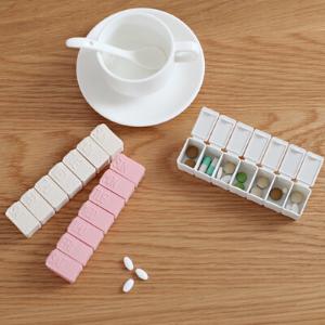 small pill organizer pill sorter travel pill case lock box for medication weekly pill box