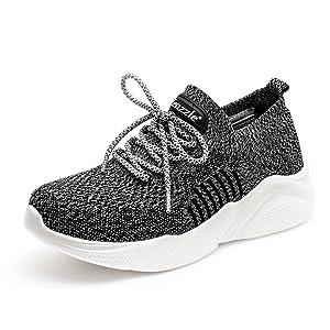 Women's grey running shoes