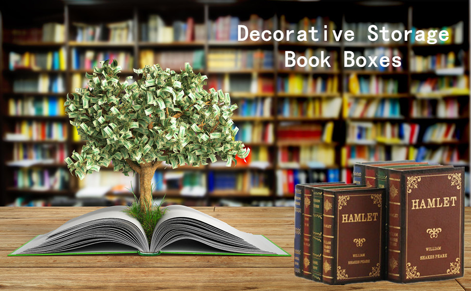 decorative book boxes