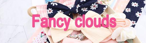 fancy clouds baby girl headbands hair clips