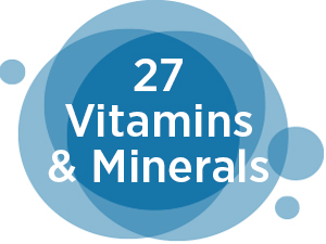 27 vitamins and minerals