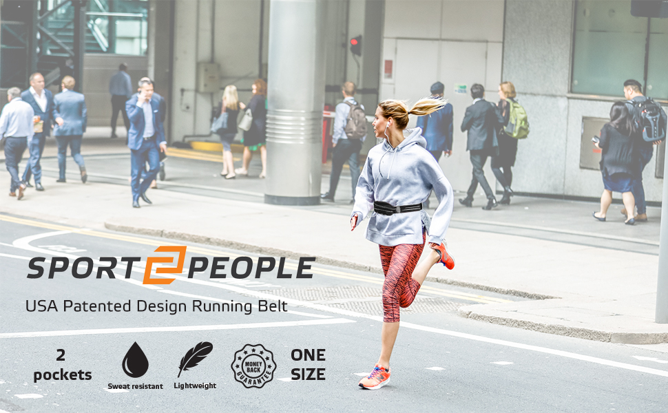 USA EU patented running belt for handsfree workouts