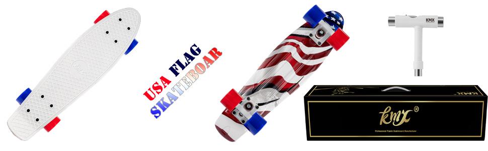 27 Complete Mini Cruiser Skateboard Gift for Beginners Kids Teens Adults KMX 22