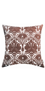 brown throw pillow covers for bedroom
