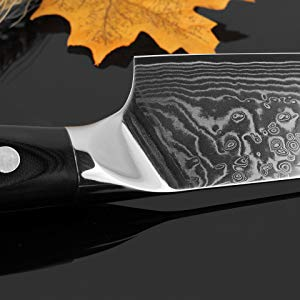 Chef Knife - Japanese AUS-10 Damascus High Carbon Stainless Steel