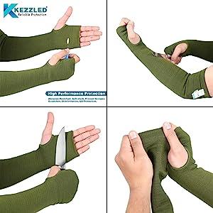 Kevlar Cut Heat Scratch Knife Resistant Arm Sleeves