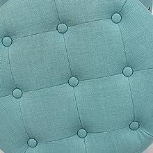 Button tufted cushion