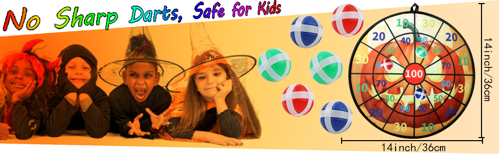 halloween dart board,safe for kids